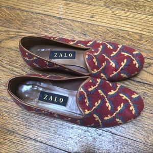 Zalo Tapestry Flats Pretty Slip On Loafers 7.5